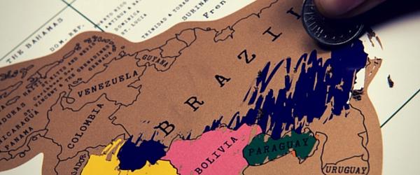 Harta razuibila este printre cele mai cautate cadouri pentru pasionatii de calatorii