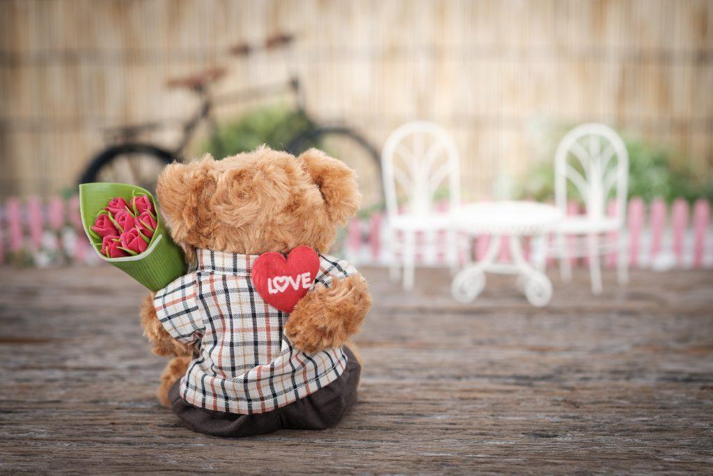 ursulet de plus de sfantul valentin