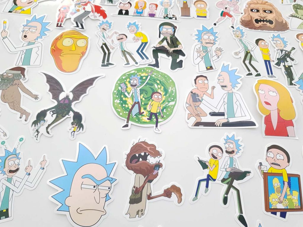 stickere laptop rick si morty